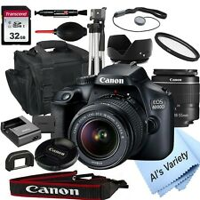 Canon EOS 4000D18.0MP DSLR Camera with 18-55mm Lens+ 32GB (18 PC Bundle)