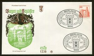 1977 Berlin Germany - Castles & Palaces - Berlin Pfaueninsel First Day Cover