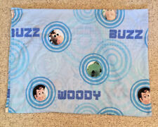 Disney Pixar Toy Story Twin Flat Sheet Twin Sized Woody Buzz Blue