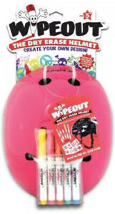 Wipeout Dry Erase Youth Pink Helmet Sport - Brand NEW with Markers [Age 5-8]