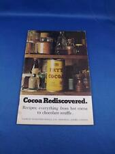 COCOA REDISCOVERED RECIPE BOOKLET FRYS COCOA ADVERTISING CAKES COOKIES DESSERTS