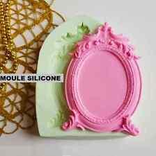 1 Moule de Cadre Baroque en Silicone 9x13cm pour Miroir Polymère Fimo Platre