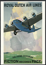 Advertising Postcard -  Royal Dutch Air Lines - The Flying Dutchman  BB169
