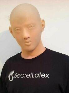 NUDE LATEX HOOD FULL HEAD FACE GIMP RUBBER FETISH BONDAGE FEMALE FEATURES MASK