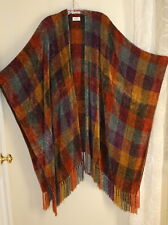 Churchill Weavers HandWoven CHENILLE Sweater Fringed Coat Poncho OS S M L XL 1X