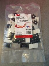 3M CABLE TIES MOUNTING BASE CTB75X75BKA-C 4-way Adhesive Mount 100 PER BAG BLACK