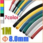 100cm 8.0mm 7 Color 2:1 Polyolefin Heat Shrink Tubing Tube Sleeve Sleeving Wrap