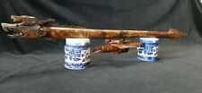 """Antique Indonesian Hand Carved Dragon Blowgun 30"""" Long"""