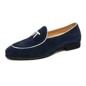Mens Low Top Faux Leather Shoes Pointy Toe Business Work Oxfords Slip on Party d