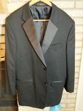 Jones New York 2 Button Mens Black Tuxedo Suit Measurements in pics