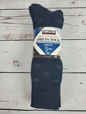 Kirkland Signature Men's 5 Pair Cushioned Crew Dress Socks Shoe Size 6.5-12 1191