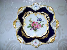 "8"" Vg German Bavaria AK KAISER Cobalt Blue Gold Porcelan HP Platter Tray RARE #2"