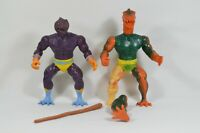 Vtg 1982 Remco Warrior Beasts Snakeman & Stegos with Weapon AS IS