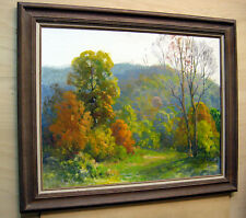 BEAUTIFUL SUNNY __ Indiana Landscape__ ORIGINAL OIL _  Brown County Indiana