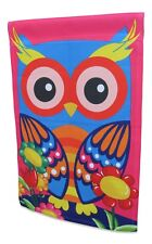 Colorful Owl Garden Flag Yard Decoration; double sided; 12 inches by 18 inches