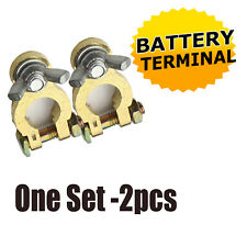 Automotive Replacement Top Copper Battery Terminals Ends Clamps Wing Nut One Set