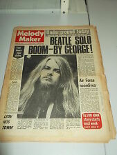 MELODY MAKER 1971 JANUARY 30 GEORGE HARRISON LEON RUSSELL GINGER BAKER TOM JONES