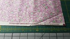 1930s Reproduction Fabric BTY By the Yard Purple Flowers Windham Cotton Feedsack
