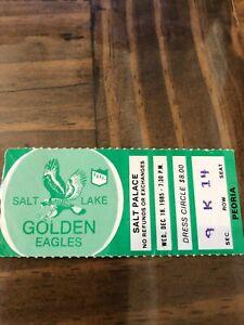 Salt Lake Golden Eagles Ticket Stub - 12/18/85 - IHL Hockey
