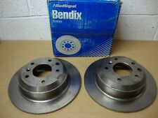 Jaguar XJ 3.2 - 4.0 - 5.3 1990-1994 Bendix 561668B Solid Rear Brake Discs (Pair)