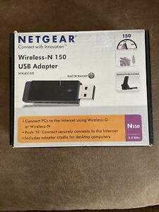 Netgear Wireless N150 Network USB Adapter 802.11g/n 150Mbps WPS 2.4GHz WNA1100