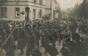 Soldat Groupe Français Pow Prisoners De Guerre Sous Allemand Escort Limberg