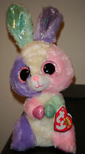 """Ty Beanie Boos ~ BLOOM the 6"""" Easter Bunny ~NEW w/ TAGS ~ Very Bright & Colorful"""