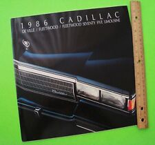 1986 CADILLAC HUGE PRESTIGE BROCHURE 36-pgs w/ DeVILLE / FLEETWOOD / LIMO nrMINT