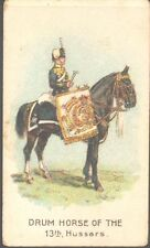 Wills (overseas) - Drum Horses, Scissors, horizontal closed packet: 13th Hussars