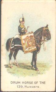 Wills (overseas) - Drum Horses, Scissors, horizontal closed packet: 13th Hussars