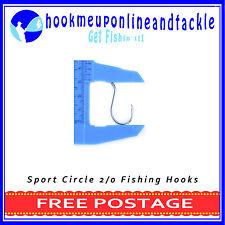50 x 2/0 Octopus Sport Circle Fishing Hooks Sport Tackle Bulk Octopus Beak