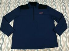 Vineyard Vines Men's Fleece Shep Shirt 1/4 Zip Fleece Sweatshirt Jacket Size XT
