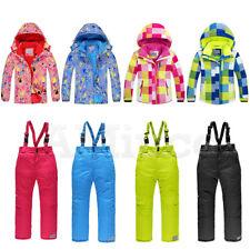 Adult Childrens Snowsuits Unisex Warm Outdoor Clothes Ski Suits Jacket Pants Set