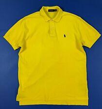 Polo ralph lauren L G maglia uomo usato manica corta t shirt giallo luxury T6394