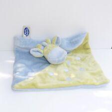 Doudou Girafe Mots d'enfants -  Bleu Vert
