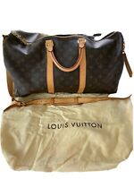 Louis Vuitton Monogram Keepall Bandouliere 50 Travel Bag With Shoulder Strap.