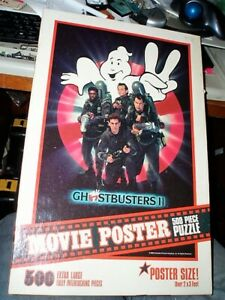 1989 VINTAGE GHOSTBUSTERS 2 MOVIE POSTER 500 EXTRA LARGE JIGSAW PUZZLE 500 PC