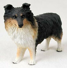 SHELTIE (TRI COLOR) DOG Figurine Statue Hand Painted Resin Gift Pet Lovers
