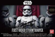 Star Wars first order Stormtrooper, modelo kit 1/12 de Bandai, nuevo & OVP