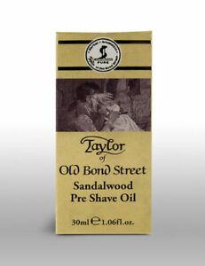 Taylor Of Old Bond Street Mens Sandalwood Pre Shave Shaving Oil 30ml Bottle