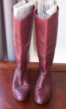 Womens MaineWoods Rodeo II 7M Burgundy Riding Boots Made in Brazil REAL LEATHER!