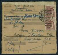 SBZ PAKETKARTE 1948 Nr A195 siehe Beschreibung (115420)