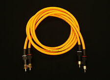 Van Damme Orange Ultra 4 Metre Pair Interconnect Cables RCA To RCA (Phono)