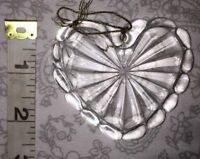 "2 1/2"" Cut Glass - Christmas Tree Ornament"