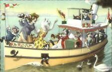 Mainzer Cat Fantasy - Postcard BOATING