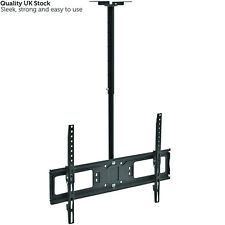 "26-60"" Large Ceiling Mount TV Bracket – Adjustable LCD/LED Television Pole Stand"