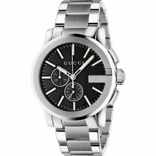 Gucci G-Chrono Chronograph Black Dial Stainless Steel YA101204 Mens Watch