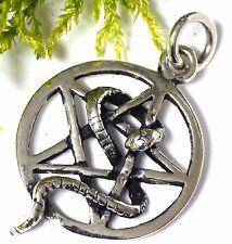Pentagramm Schlange 925 Silber Schlangen Kraftamulett Schutzamulett  Erneuerung
