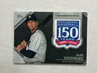 ALEX RODRIGUEZ 2019 Topps 150 Years of Baseball COMMEMORATIVE PATCH SP! YANKEES