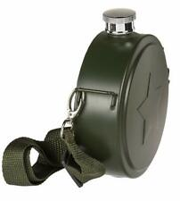 Stainless Steel Flask Canteen Shoulder 15 cm Army Green